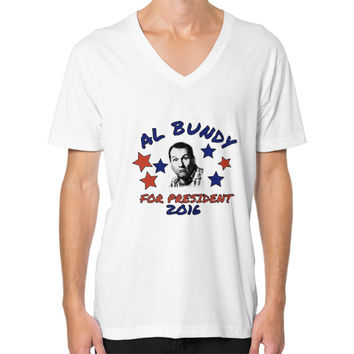 AL BUNDY FOR PRESIDENT V-Neck (on man)