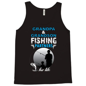 Grandpa And Grandson Fishing Partners For Life Tank Top