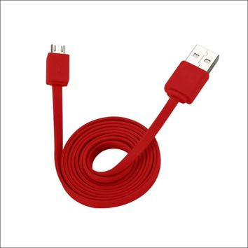 REIKO TANGLE FREE MICRO USB DATA CABLE 3.3FT IN RED: Case Of 120