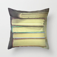 Yesterday's Stories Throw Pillow by Ann B. | Society6
