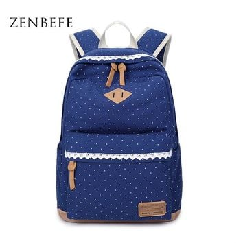 ZENBEFE Women'S Canvas Bags Fashion Women'S Backpack Capacity Travel Bag Backpacks For Laptop Lovely School Bags For Student Bag