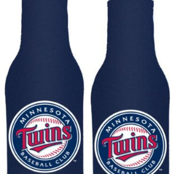 MLB Twins Neoprene Bottle Suits | Minnesota Twins Beer Bottle Koozies - Set of 2