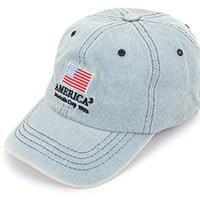 Vintage Cotton America Cup 1992 Pre bent Baseball Cap (2. Denim)