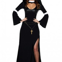 Black Modesty Nun Costume
