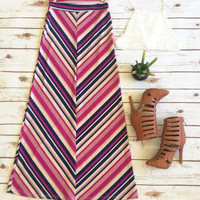 Take a Dip Maxi Skirt