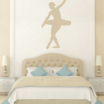 kik2268 Wall Decal Sticker ballerina dance ballet pas pirouette girl living room bedroom