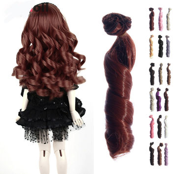 1PC Wig BJD Doll DIY High-temperature Wire Handmade Curly Wigs Hair Curls Row