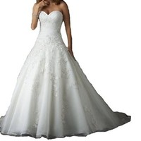 Yxjdress Women's Organza Wedding Dresses Prom Dresses Bridal Gown Plus Size