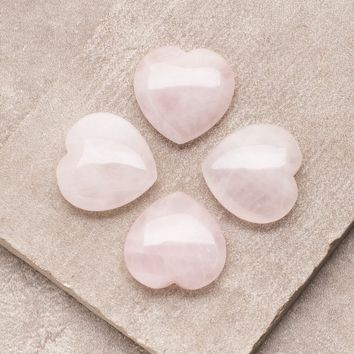 Rose Quartz Mini Hearts- Set of 4