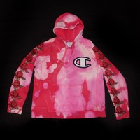 Champion hoodie with roses