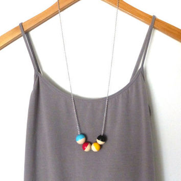 CMYK necklace, wood bead necklace, graphic designer necklace, design jewelry, gift for graphic designer