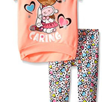 Disney Little Girls' Doc Mcstuffins Tunic and Legging Set, Pink, 5