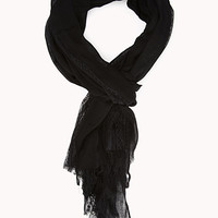 FOREVER 21 Ornate Lace-Trimmed Scarf