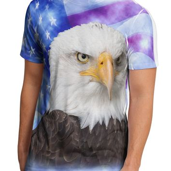 All American Eagle All Over Men's Sub Tee Single Side All Over Print by TooLoud