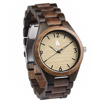 All Wood Watch // Ebony + Walnut 04