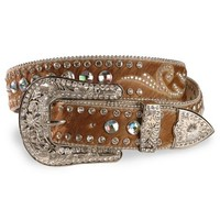 Nocona Hair On Embellished Leather Belt - Sheplers