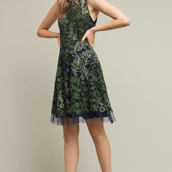 Embroidered Fern Dress