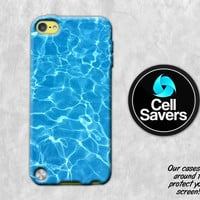 Blue Pool iPod 5 Case iPod 6 Case iPod 5th Generation iPod 6th Generation Rubber Case Gen Pool Water Blue Summer Tumblr Inspired Turquoise