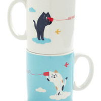Mew and Me Mug Set | Mod Retro Vintage Kitchen | ModCloth.com