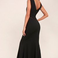 See You Swoon Black Maxi Dress