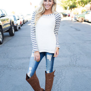 I Dare You To Move Stripe Knit Top