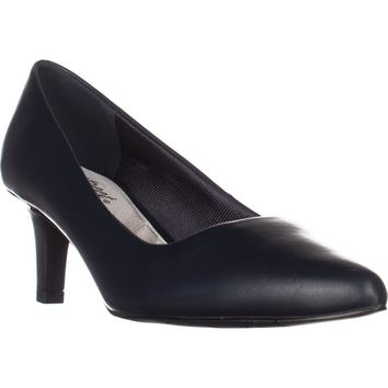 Easy Street Pointe Dress Pumps, Navy, 10 W US