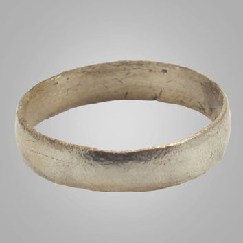 Ancient Viking Mans Pinky Wedding Band Jewelry C.866-1067A.D. Size 7 (17mm)