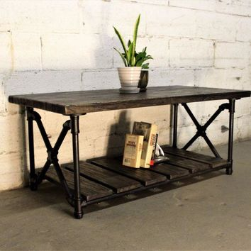 Houston Industrial Vintage Coffee Table
