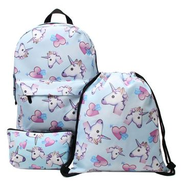 University College Backpack DAOXI Unicorn  for Girls 3D Unicorn Print Unicorn  School  Bag for Teens Girls Students pingAT_63_4