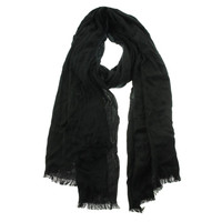 Nordstrom Rack Womens Knit Fringe Rectangle Scarf