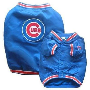 ESBONI Chicago Cubs Dog Dugout Jacket