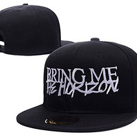 HAIHONG Bring Me The Horizon Band Logo Adjustable Snapback Caps Embroidery Hats