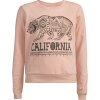 Full Tilt Ethnic Cali Bear Girls Sweatshirt Pink  In Sizes