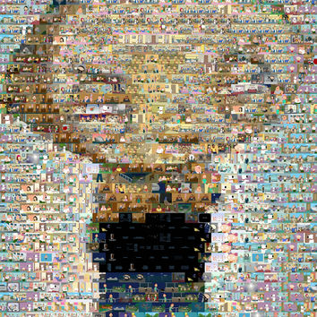 Family Guy Stewie Mosaic INCREDIBLE Framed or Unframed Print Limited Edition. Choose your size.