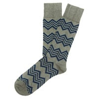 Men's Alpine Stripe Socks, Gray, Socks