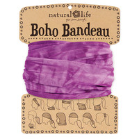 Purple & White Tie-Dye Boho Bandeau
