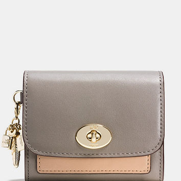 COACH CHARM COMPACT CASE IN COLORBLOCK LEATHER | Dillards