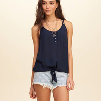 Tie-Front Strappy Tank