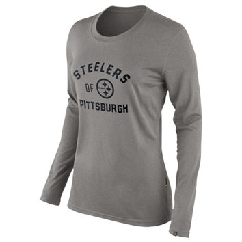 Nike Pittsburgh Steelers Women's Of The City Long Sleeve Tri-Blend T-Shirt - Ash