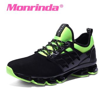 2017 New Design Unisex Running Shoes Men Cushioning Outdoor Sport Shoes Leather PU Women Sneakers Professional Athletic Shoe Men