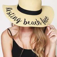 """Resting Beach Face"" Beach Hat"