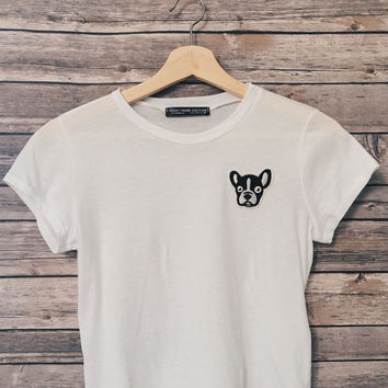 Frenchie Crop Tee