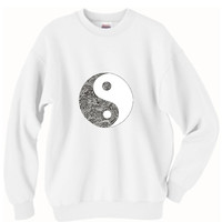 Ying Yang Tumblr Oversized Sweater