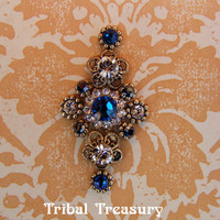 Blue lace Swarovski bindi