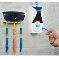2016 NEW Automatic Toothpaste Dispenser +5 Toothbrush Holder High Quality Toothpaste Dispenser  Family Sets
