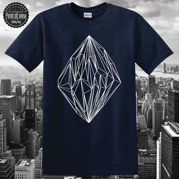 Origami Crystal t-shirts fashion 2016 diamond triangle O-Neck short sleeve tee shirt clothing Minimalist Abstract RAW Unisex hipster dope