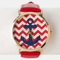 BRIDGEPORT ANCHOR WATCH IN RED