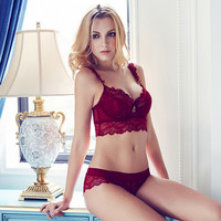 Lace Padded Bra Underwear Set Cover Side Boob 11308