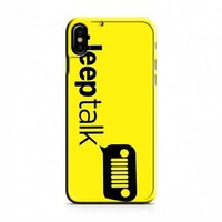 Jeep Talk Yellow iPhone X Case