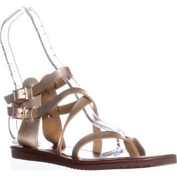Seven Dials Sync Ankle Strap Sandals, Gold Metallic, 7 US